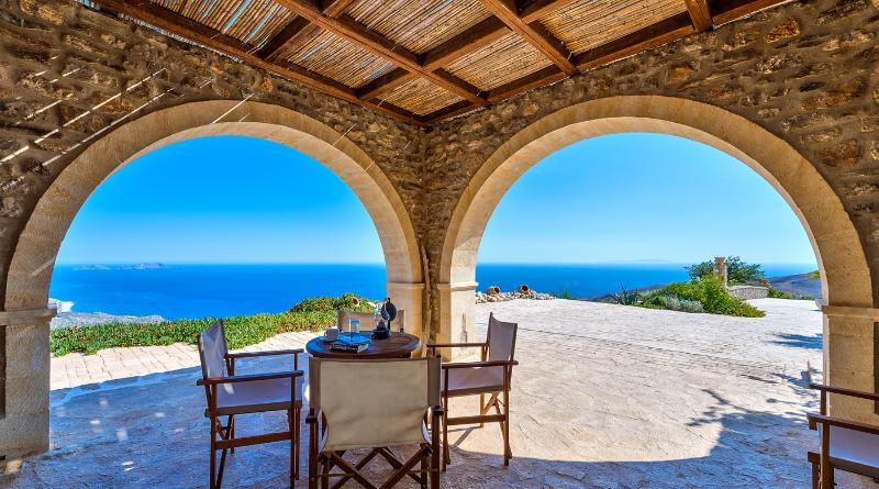 outside - lux private villa, seaview ,south Rethymno Crete - Rethymnon - rentals