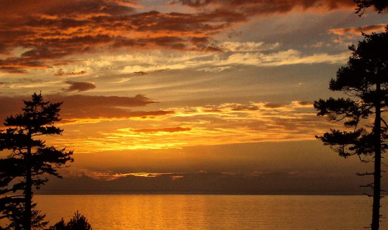 Sunset from the front deck - SeaView Cottage on Whidbey Island - Coupeville - rentals