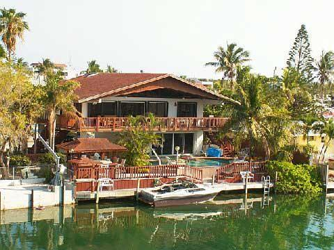 view of house from canal - Venetian Tropics 3 bedroom pool home on canal or d - Islamorada - rentals