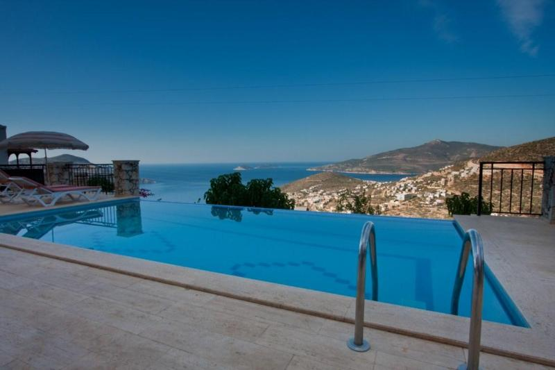 VIEW FROM POOL - 4 Bedroom Villa With Perfect Sea Views Of Kalkan - Antalya - rentals