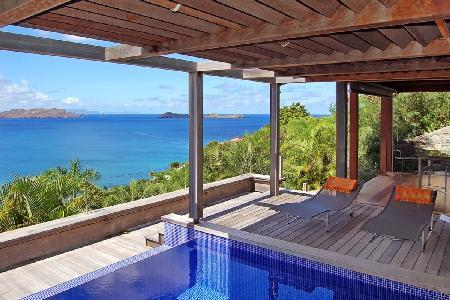 Magical Villa Bali offers a covered terrace with pool and amazing views - Image 1 - Pointe Milou - rentals