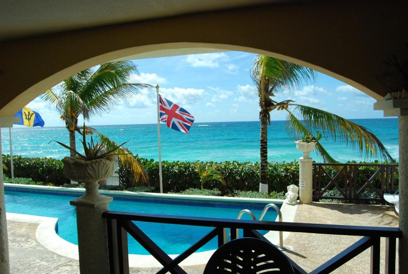 SEA VIEW FROM THE LOUNGE - ROSALIE APARTMENTS 1&2 BED CHRISTCHURCH BARBADOS - Atlantic Shores - rentals