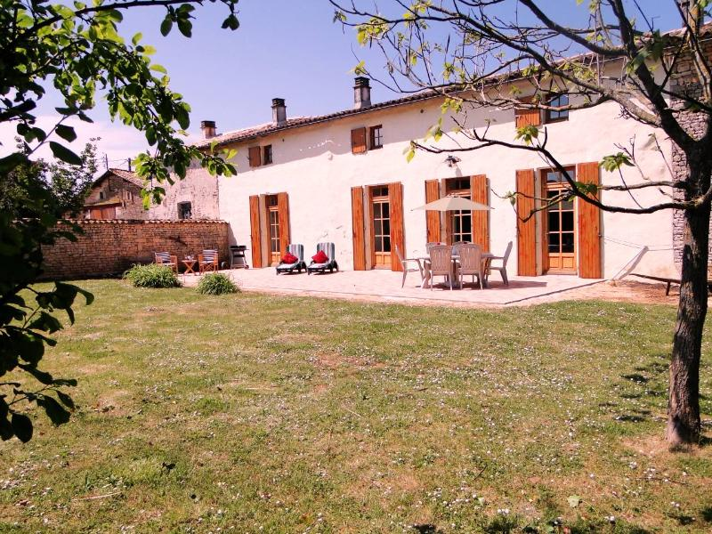 South facing terrace with BBQ, table, chairs etc - 3 en-suite bedroom farmhouse in beautiful hamlet - Poitou-Charentes - rentals