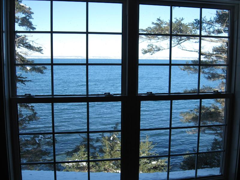The view from Upstairs bedroom, your toes touch the water almost - Nova Scotia 2 bedroom cottage on the Ocean - Guysborough - rentals