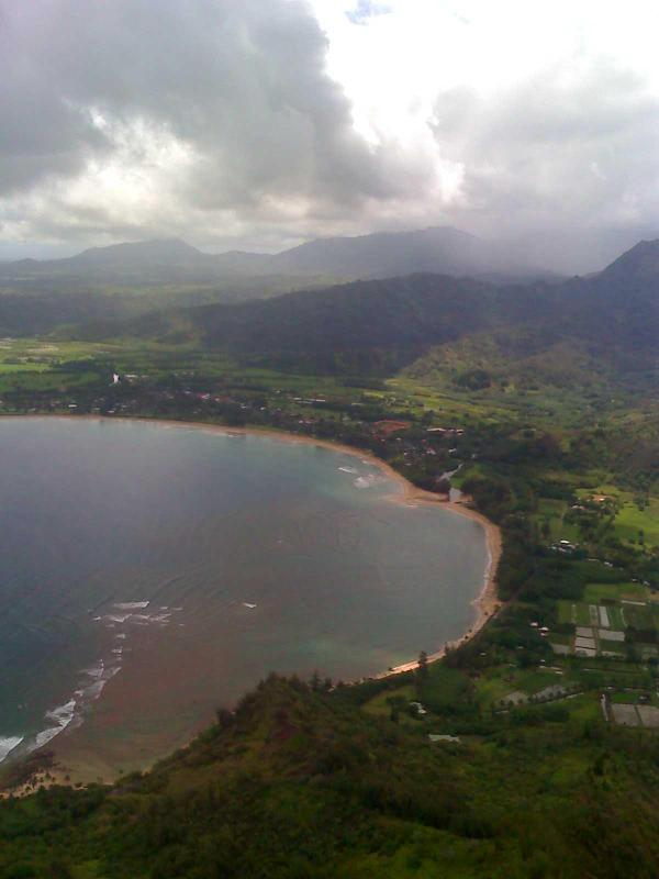Arial View Hanalei Bay - Hanalei Inn Located in Hanalei town, walk to beach - Hanalei - rentals