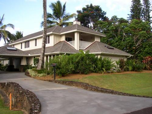 HOUSE FRONT - Luxury 4 BDRM Home Walk to Beach Kauai North Shore - Princeville - rentals
