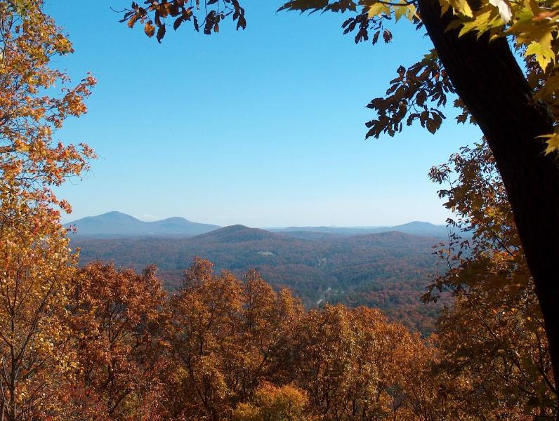 The best view in Lumpkin County! - Cedar Mountain Chalet - 3 BR with Mt. Yonah view - Dahlonega - rentals