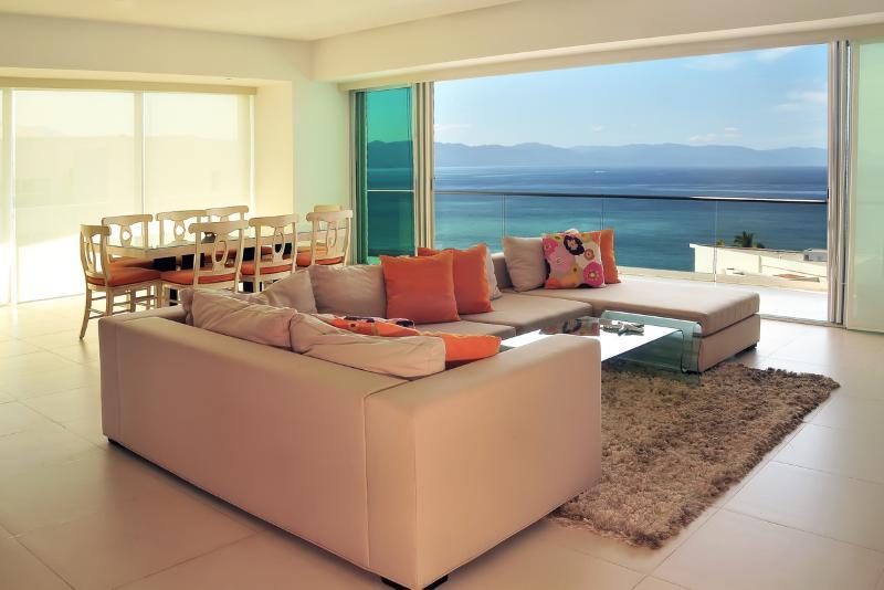 Living / Dining - ICON Vallarta-New Luxurious 3050 Sqf. 3Br - Puerto Vallarta - rentals