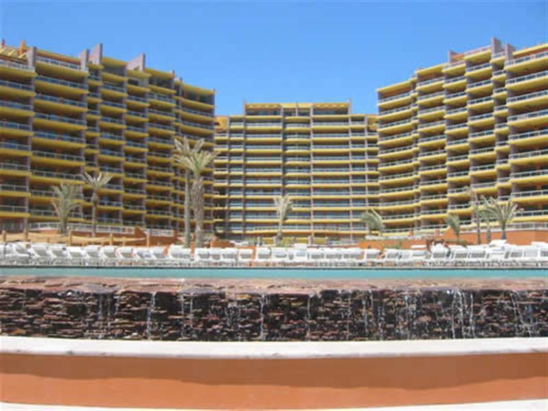 Las Palomas Resort, on the beach in Rocky Point.  Our condo is on the right, 8th floor. - 3 BR Condo, Las Palomas Golf Resort on Sandy Beach - Puerto Penasco - rentals