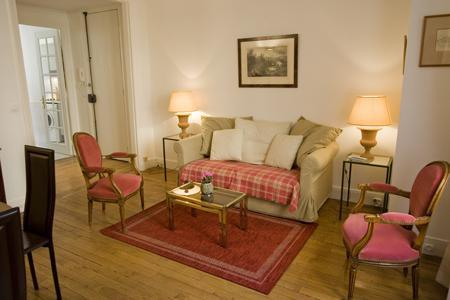 Living room with sofa bed 120cm - Comfortable 1 Bedroom Apartment in Paris - Paris - rentals