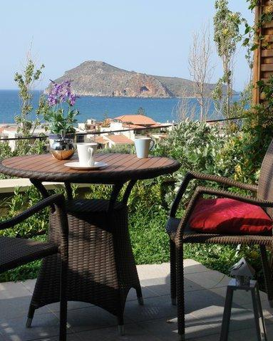 View from the terrace - PELAGOS HOLIDAYS Apts - Relaxing panoramic seaview - Platanias - rentals