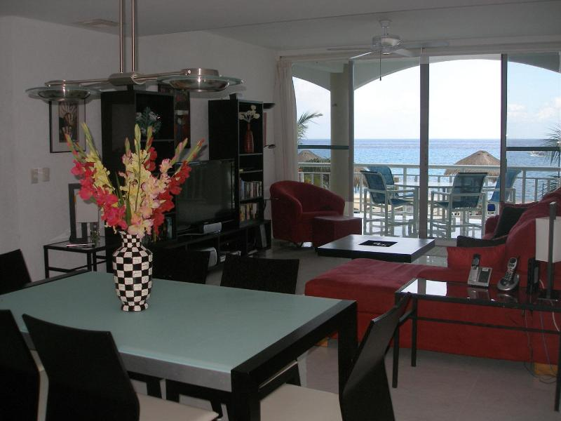 Ocean views from every room. - Deluxe Oceanfront Condo w/Direct Beach Access - Cozumel - rentals