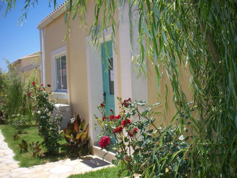 entrance to 1 bedroom villa - FLOWER VILLA 1,   1 BEDROOM- 250M FROM THE BEACH - Corfu - rentals