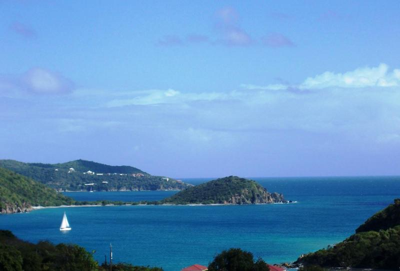 East view from the deck - HAPPY OUR - great location & exceptional views at the right price! - Coral Bay - rentals