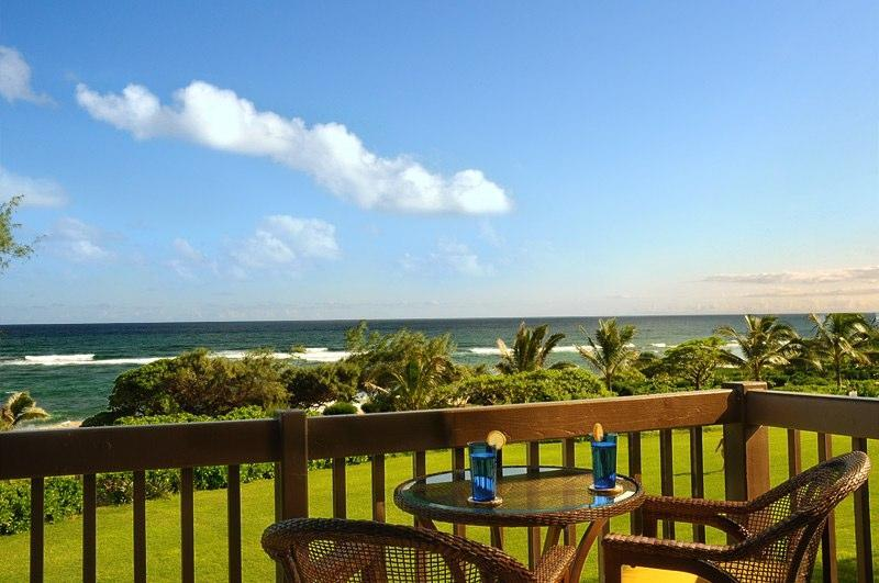 Breathtaking View from Your Private Lanai! - Kaha Lani 219- Breathtaking Oceanfront Condo!! - Kapaa - rentals