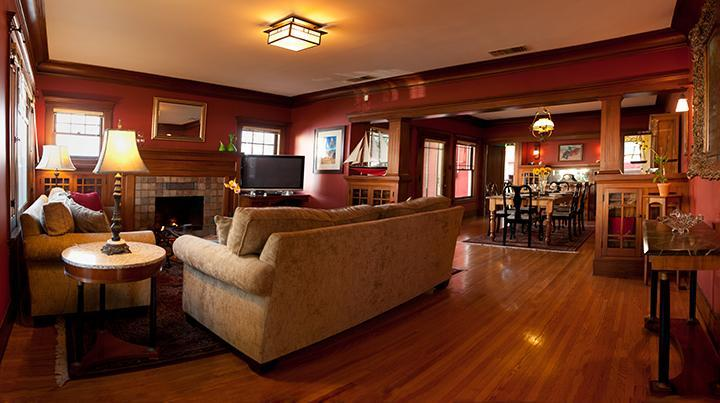 Living Room -- so comfortable - Hollywood Craftsman Home--3 blocks to Walk of Fame - Los Angeles - rentals