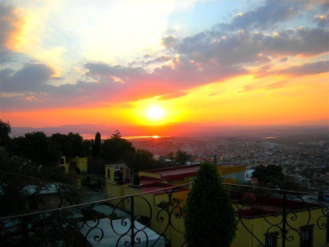 Sunset View from the terrace at Casa de Angel - Luxurious estate in dream location! - San Miguel de Allende - rentals