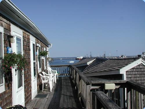 view from your chairs on the deck - Upper Deck Corner Studio #11 with waterviews - Provincetown - rentals