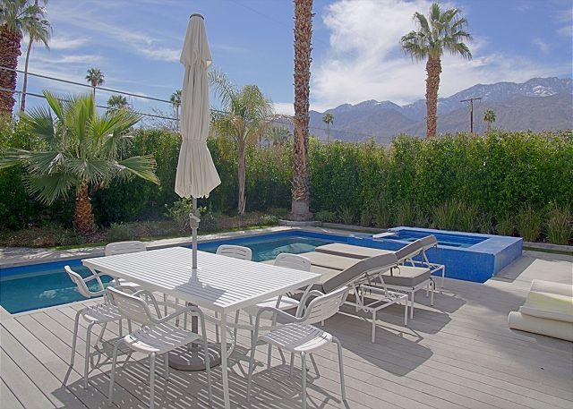 Outside Seating, Pool, and Spa - Artsy Escape ~ SPECIAL - TAKE 20% OFF ANY 5NT STAY THRU SEPT - Palm Springs - rentals