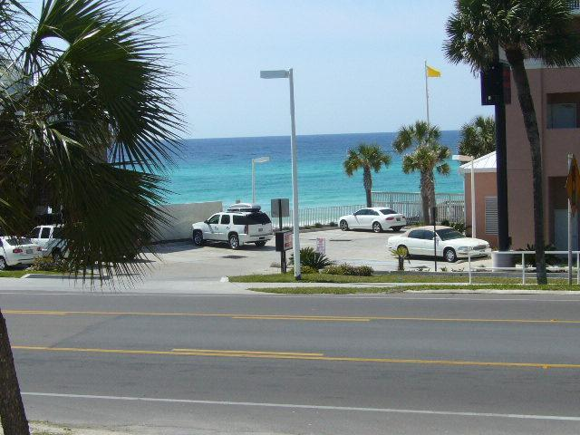 Gulf View from Living Area - 1 BR WEST, SPECIAL .,AUG RENTS, Ocean ViEW, QUIET - Panama City Beach - rentals