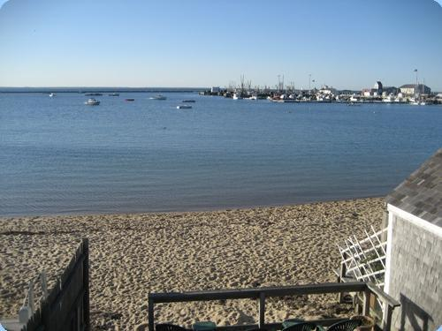 View from our common deck - Studio #13 w/ sun deck and waterviews - Provincetown - rentals