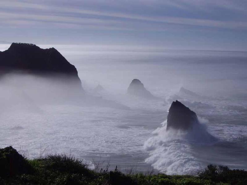 View south of Sea & River to Brokeback Cove - Spectacular Ocean Front Rental on Mendocino Coast - Mendocino - rentals