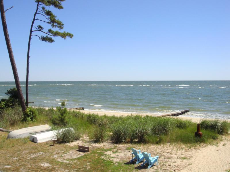 View from second level deck - Virginia Chesapeake Bay Beachfront - Chesapeake - rentals