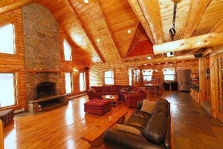 Living room with a state of the art sound system make sure to bring your iPod - The Premier Cabin in Killington Vermont - Bridgewater - rentals