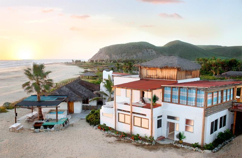 Three-story Guest House in foreground - Baja Robert's Ocean Oasis - Todos Santos - rentals