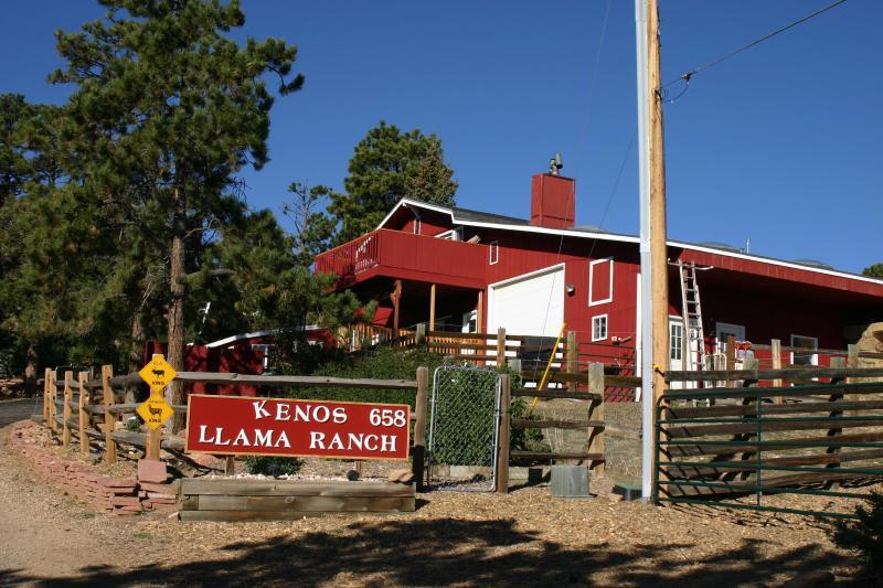 We are Open!!  Entrance to Kenos Llama Ranch & Condos - Kenos Llama Ranch & Condos - Estes Park - rentals