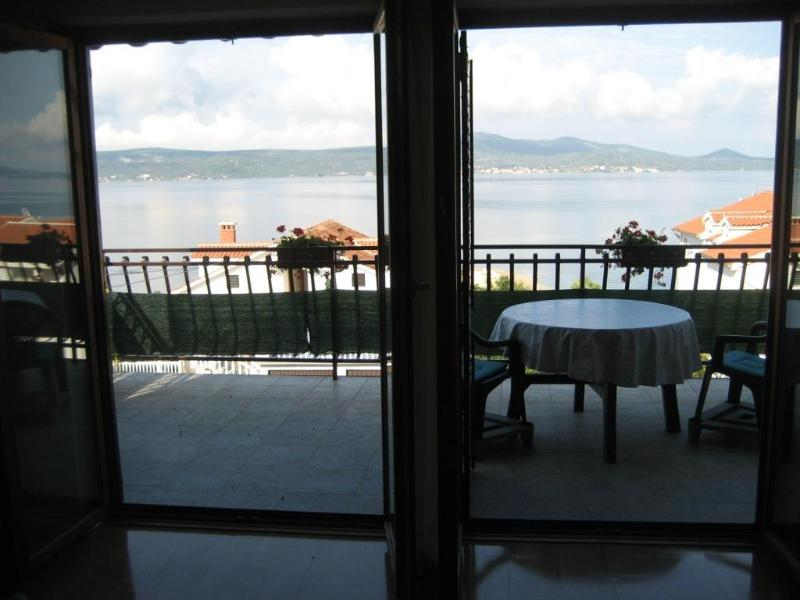 Terrace-view - Studio Darija S2, beautiful seaview, 50m from sea - Sveti Petar - rentals