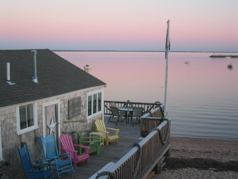 East Wharf  Deck - Historic Wharf Cottage - Right on the beach! - Provincetown - rentals
