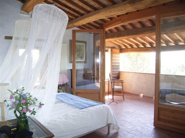 Blue room with private terrace over looking the countryside - Private Holiday Villa Cerqualto 8p., Panorama Pool - Citta della Pieve - rentals