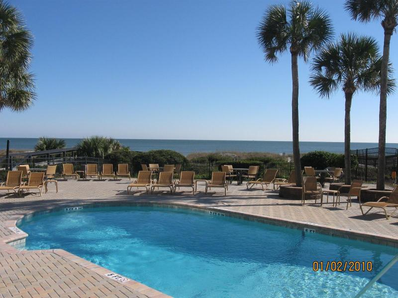 Relax at the Pelicans heated oceanfront pool for guest use only. - The Pelicans Condominiums on Amelia Island - Fernandina Beach - rentals