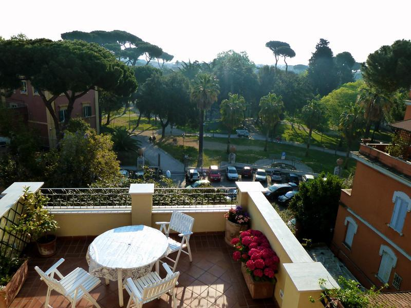 The Terrace in the morning - Boutique penthouse & wonderful terrace-Rome center - Rome - rentals