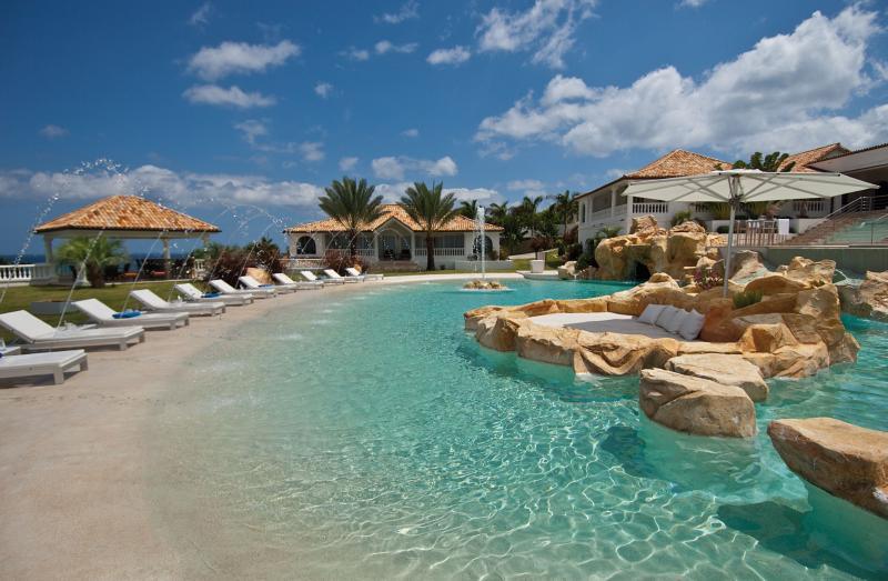 Sandyline...Terres Basses, St Martin - SANDYLINE... The essence of Luxury! Spectacular villa estate with 2 pools, tennis, golf, gym, chef, & breathtaking sunsets! - Plum Bay - rentals