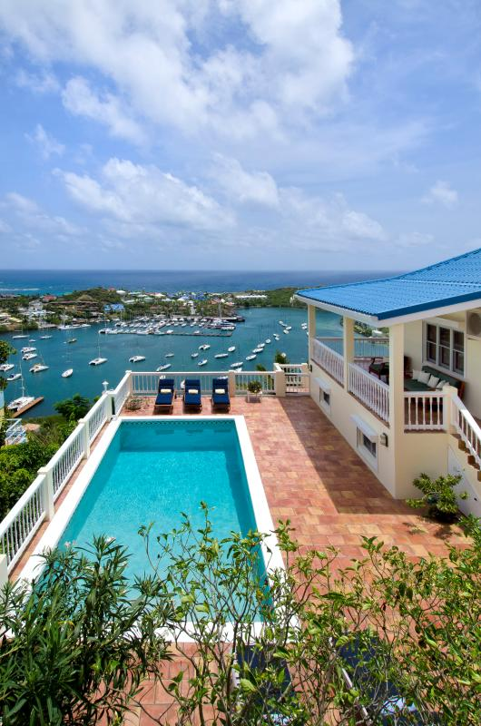 Majestic View...Overlooking captivating Oyster Pond and Dawn Beach - MAJESTIC VIEW...5 BR St Maarten Villa Overlooking captivating Oyster Pond and Dawn Beach - Oyster Pond - rentals