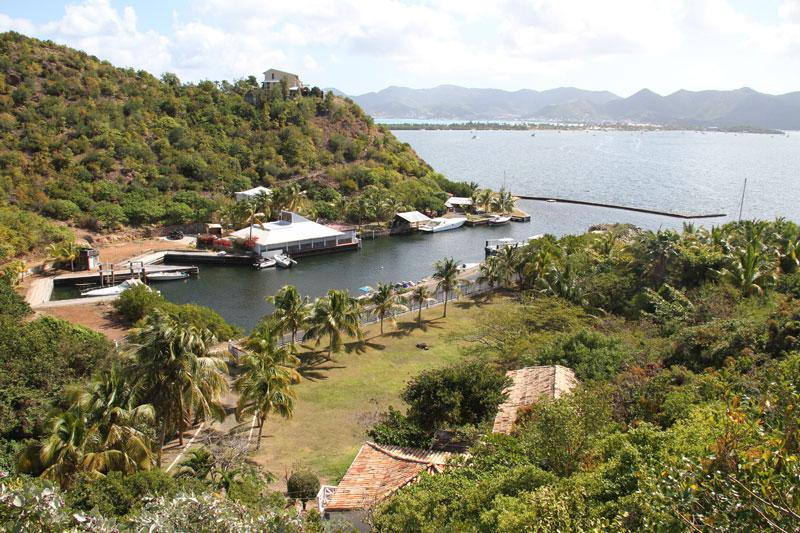 L'Alizes...marina views of Simpson Bay Lagoon, St Martin 800 480 8555 - ALIZES... large lagoon waterfront villa with boat dock & tennis court! - Terres Basses - rentals