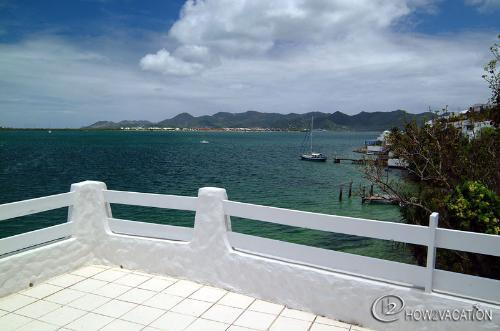SEACHEST...Dutch side St Maarten villa...views of Simpson Bay Lagoon from Deck - SEACHEST...spacious, full AC, gorgeous views of Simpson Bay Lagoon - Cupecoy - rentals