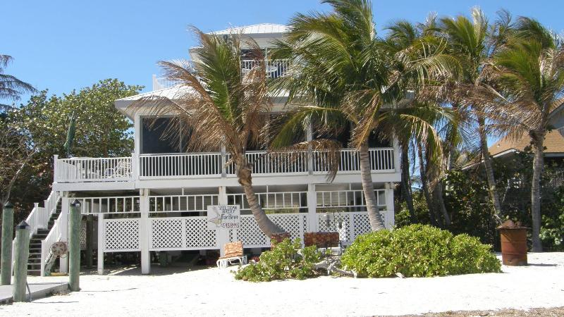 this is the view from our beach - Pelican Brief right on the beach - Captiva Island - rentals
