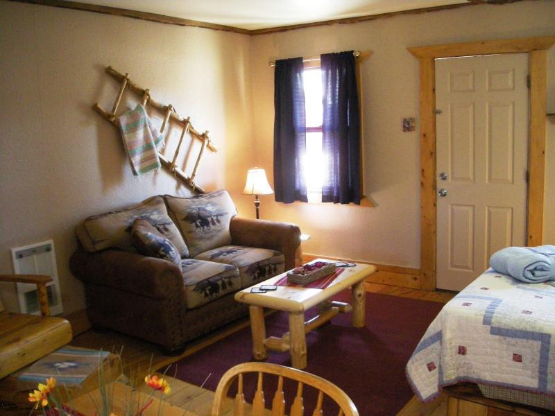 Sitting Area of Cabin # 3 - Two Fox Cabins & RV's - La Veta - rentals