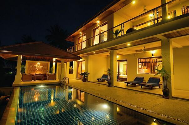 Pool side at night - Peerapat Villa, 4-Bed Seaview in NE 1km to Beach - Koh Samui - rentals