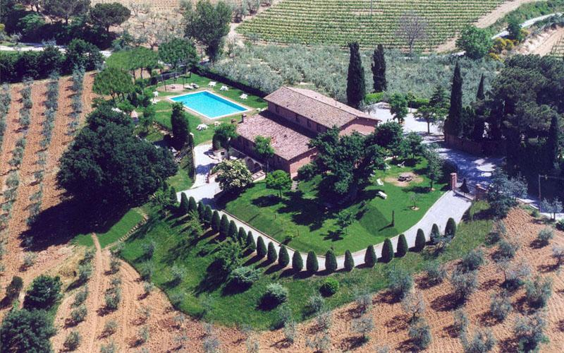 Aerial View - Superb Rental at La Casa delle Querce in Montepulciano - Montepulciano - rentals