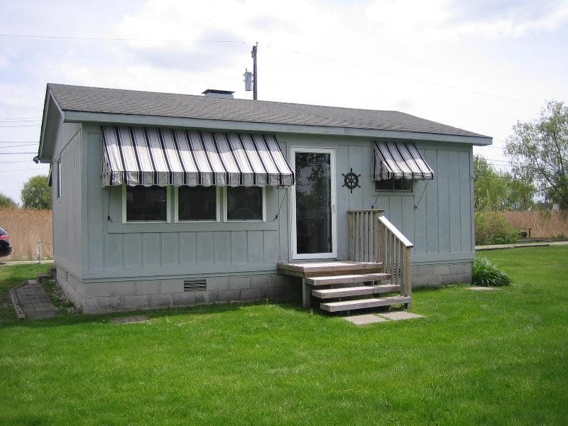Canal Side (front) - Canal Front Cottage on Harsens Island, Michigan - Harsens Island - rentals