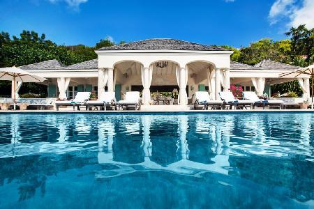Palladian style Bon Temps on one-level, 50 ft infinity edge pool & lush tropical gardens - Image 1 - Pointe Milou - rentals