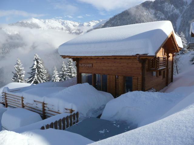 Chalet in winter - Chalet La Luge, catered chalet, La Tzoumaz,Verbier - La Tzoumaz - rentals