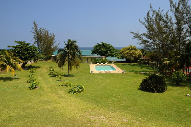 Miramar Villas lawn area ideal for functions - Miramar Villas 3bedroom beach front  villas - Mammee Bay - rentals