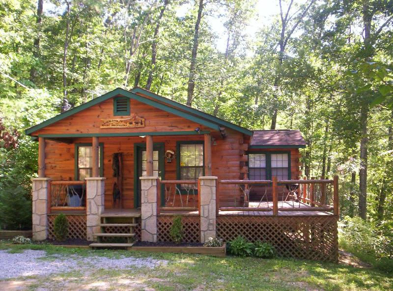 Front of Cabin - Luxury 2 Bd Cabin on 4 Private Wooded Acres - Sevierville - rentals