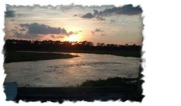 Sunset over Horsepen Creek! - Panoramic View, Private dock on Creek, near beach! - Tybee Island - rentals