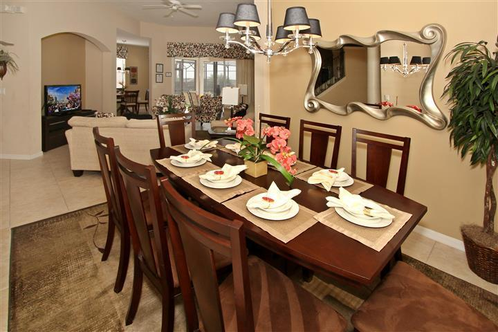 Dining room - Designer's Model: 5BR/3 Masters/Pool/GameRm/for 12 - Orlando - rentals